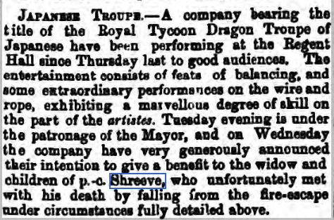 Shreeve Japanese troup Norwich Mercury 8 March 1871 (2)